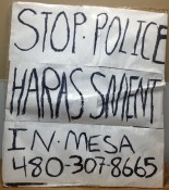 Jeremy Wiseman protesting the Mesa, Arizona police - His phone is (480)307-8665 - Call him and ask what actually happened as opposed to what it says in this article!!!