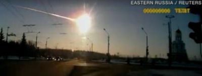 Friday, February, 15, 2013 - 10 ton meteor traveling at 33,000 mph or 54,000 kph explodes over Russia with force of A-bomb